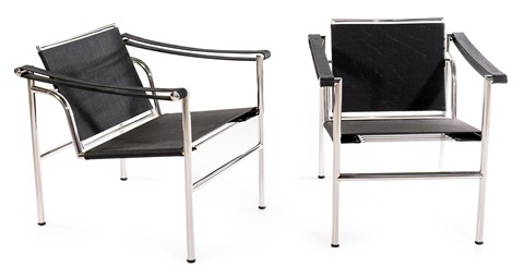 lc1 outdoor chairs 2 pieces by le corbusier and charlotte perriand