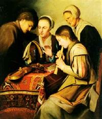 men and women making music by jacques des rousseaux