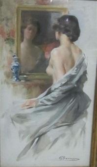 jeune femme by alexandre françois bonnardel