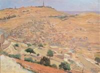 silwan, jerusalem by wilhelm wachtel