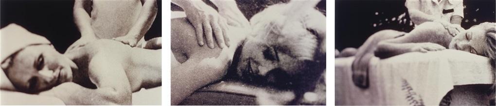 untitled massage triptych by richard prince