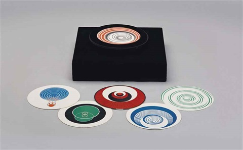 rotoreliefs 6 doublesided works by marcel duchamp