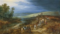 landscape with travelers and bittern hunter by jan brueghel the younger