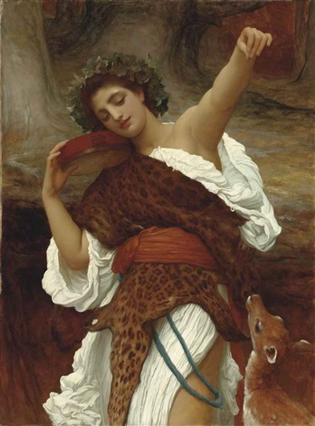 bacchante by lord frederick leighton