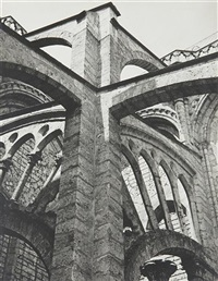 chartres-flying buttresses at the crossing by charles sheeler