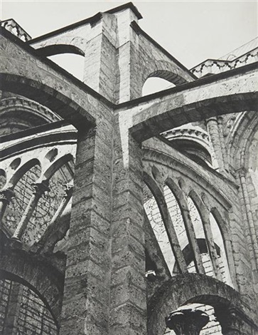 chartres flying buttresses at the crossing by charles sheeler
