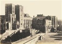 palais des papes, avignon by charles nègre