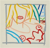 study for bedroom blond with necklace by tom wesselmann