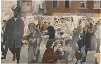 the market by edward burra