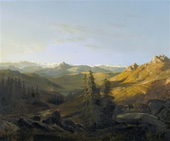 effet de soleil sur les hautes alpes du valais by alexandre calame