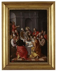 the last supper by hans von aachen