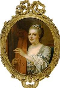 la jeune harpiste by jean françois gilles colson