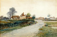 a fine day in the village by leopold rivers