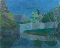 nächtliche landschaft bei baden by hans böhler
