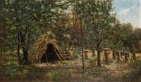 шалаш на пасеке by evgeniy ivanovich stolitsa