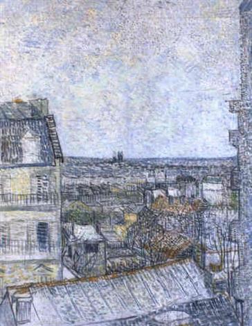 La Vue De La Chambre De Lartiste Rue Lepic By Vincent Van Gogh On