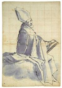 la figure de saint nicolas (study) by jacopo (da empoli) chimenti