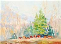 herefords late afternoon by orestes (rick) nicholas de grandmaison