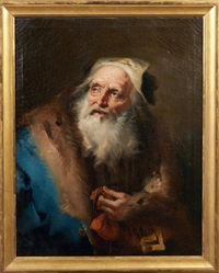 figure d'homme au manteau de fourrure by giovanni battista tiepolo