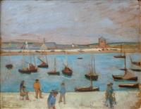 locquirec, le port de pêche by henri gabriel ibels