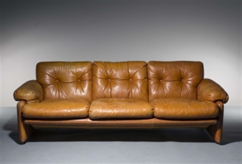 A Coronado Leather Sofa By Afra And Tobia Scarpa
