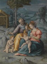 sainte famille avec saint jean baptiste by bacchiacca
