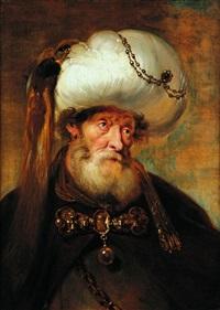 portrait d'homme enturbanné by karel van mander iii