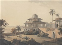 hindoo temples at bindrabund on the river jumna. march.; the chalees satoon in the fort of allahabad on the river jumna. july 1795.; hindoo temples at agouree, on the river soane, bahar. september 1796.; sculptured rocks, at mavalipuram, on the coast of co by thomas daniell