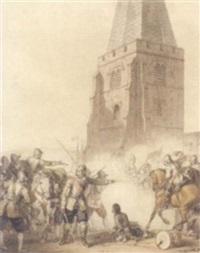 a battle scene by john augustus atkinson