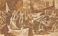 scène de bal, une élégante jouant sur un virginal by hieronymus francken the elder