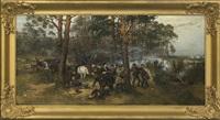 the polish 1863 uprising scene by tadeusz ajdukiewicz