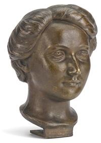 bronze bust of berta kirschner by arnold zadikow