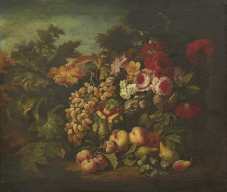 stilleben med blommor och frukter by abraham brueghel