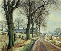 winter landscape, perthshire by james mcintosh patrick