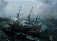 vaisseau par temps agité by andries van artvelt (ertvelt)