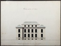 la façade côté est (design) (+ 2 others (design), various sizes; 3 works) by charles lesage
