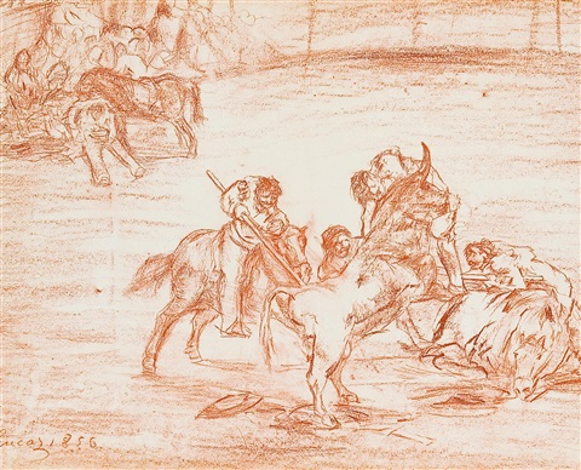 picadores en la plaza by eugenio lucas velázquez