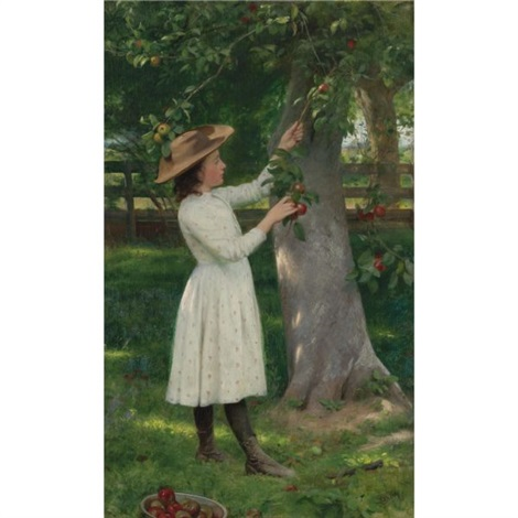 the pick of the orchard picking apples by seymour joseph guy