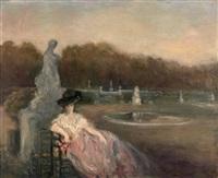 femme dans un parc by pierre laprade
