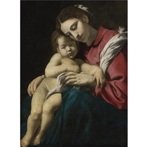 madonna and child by giovanni battista caracciolo