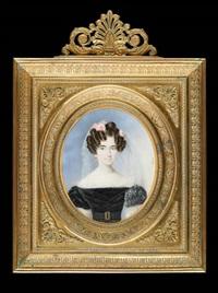 jeune fille à la coiffe de roses by nicolas-françois dun