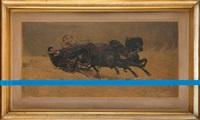 interwencja - błękitna linia biegnąca wzdłuż reprodukcji obrazu józefa chełmońskiego sanna by edward krasinski