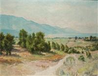 summer landscape by nikos xenos