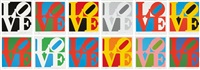 book of love suite (set of 12) by robert indiana