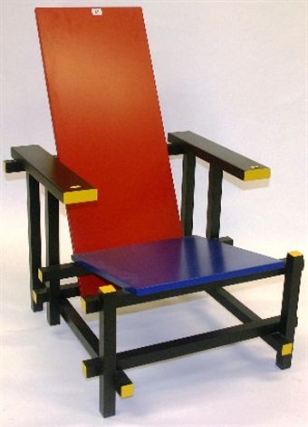 red blue armchair by gerrit thomas rietveld