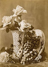 nature morte aux roses by charles aubry