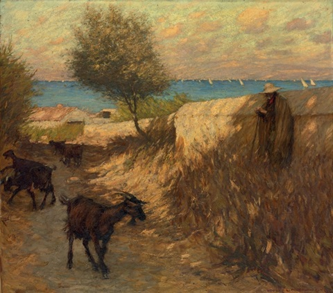provençal lane martigues by henry herbert la thangue