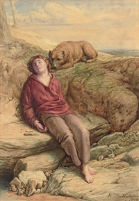 the sleeping shepherd by william mulready