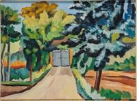 paysage de toscane by alberto magnelli
