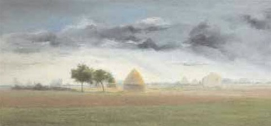 la plaine par un jour de pluie en octobre by antoine chintreuil
